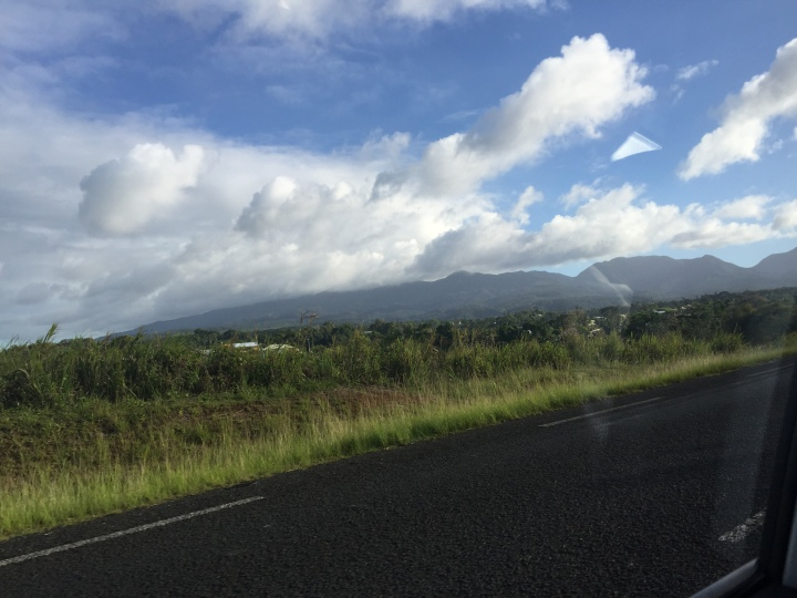 The drive from Pointe-A-Pitre to Deshaies